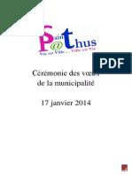Voeux 2014 Discours Saint-Pathus