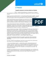 COMMUNIQUÉ DE PRESSE  - Une épidémie de rougeole menace la vie des enfants en Guinée