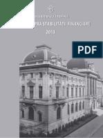Raport BNR asupra stabilitatii financiare 2013