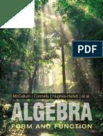 McCallum Algebra Form and Function 3rd edition