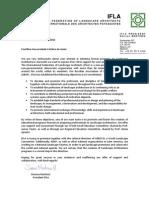 Carta Apoio IFLA - PUC Goias