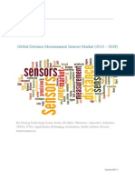 Global Distance Measurement Sensors Market (2013 – 2018) – By Sensing Technology (Laser diodes, IR LEDs, Ultrasonic, Capacitive, Inductive, CMOS, CCD); Applications (Packaging, Automation, Safety systems, Process Instrumentation)