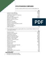 Accounts of Banking Companies