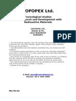 Toxicological Studies