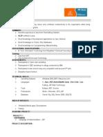 SCJP Certified Resume