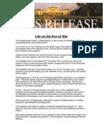 Shugborough Life on the Eve of War