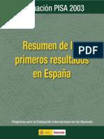 Pisa 2003 Resume n Espana