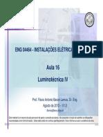 ENG 04466 - Aula 16 - Luminotécnica_ IV_V1.0 - Ago 2013
