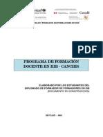 PROGRAMA DE FORMACIÓN DOCENTE EN EIB - CANCHIS