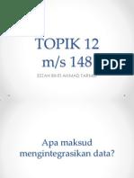 topik 12 Pengintegritian data penyelidikan tindakan pkp 3113