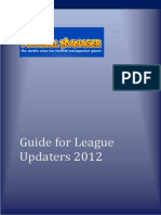 Guide for League Updaters 2012