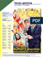Buffet's Checklist on Macau Gaming