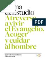 Tema de Estudio 2013-2014 - Acoger y Cuidar Al Hombre