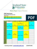 OSM Fall 2014 Tutoring Schedule