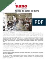 cafés en Lima