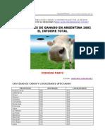 MUTILACIONES DE GANADO EN ARGENTINA 2002 - EL INFORME TOTAL de Gustavo Fernández