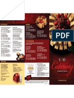 Cosi Catering Menu