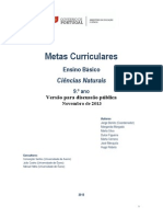 Metas Curriculares Ciencias Naturais 9 Ano
