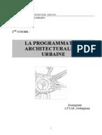 A Programmation Architecturale Et Urbaine