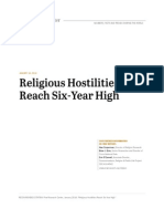 Religious Hostilities Reach Six-Year High