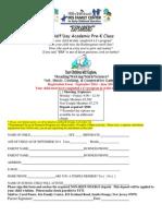 PreK Registration Form 14-15