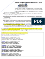 Registration & Enrichment Information Sheet 14-15
