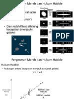 Pergeseran Merah Dan Hukum Hubble