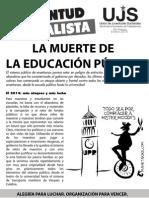 La muerte de la educación pública, Boletín #1, Enero 2014
