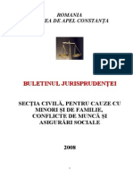 Buletinul Jurisprudentei Civil 2008