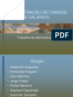 ADMINISTRAÇÃO DE CARGOS E SALÁRIOS