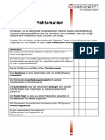 Fallbeispiel Reklamation  Checkliste 2014