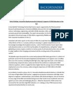 PhRMA STEM Education Report Backgrounder 2014
