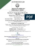 IOM Club 3 day Agility Show May 2014