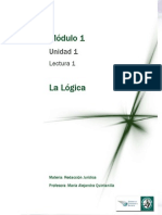 Lectura 1 - La Lógica