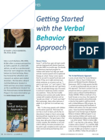 Getting Started with the Verbal Behavior Approach by Mary Lynch Barbera, RN, MSN, BCBA