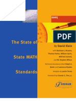State Math Standards - Review - Fordham - 2005