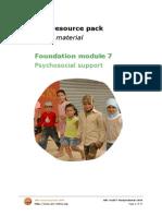ARC Foundation Module 7 Psychosocial Support