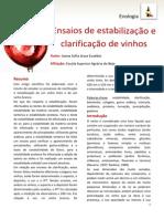 Ensaios de estabilização e clarificação de vinhos.pdf