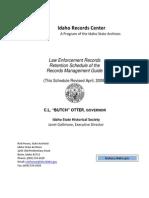 Law Enforcement Records Book