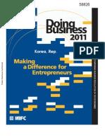 WB. Korea. Doing Busin 2011. A Diff for Entrepr.pdf