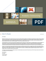 Analytics Outsourcing 101 Sector Overview Sept 2012