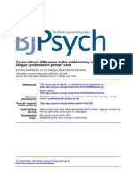 Cross-cultural differences in the epidemiology of unexplained fatigue syndromes 2003 - Cópia