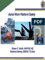 Seguridad en Trabajo d Eplataformas Aereas