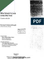 Matemáticas Discretas - 4ta Edición - Richard Jonhsonbaugh