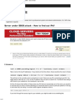 Linux - Server Under DDOS Attack - How to Find Out IPs_ - Server Fault