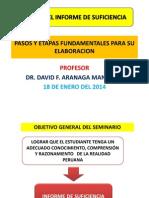 Plan de Informe de Suficiencia Pasos y Etapas Fundamentales Enero 2014