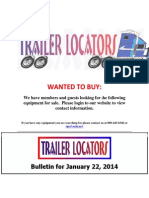 Wanted to Buy January 22, 2014