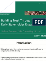 The importance of early Stakeholder Engagement