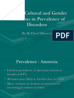 Discuss Cultural and Gender Variations in Prevalence Of