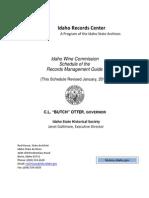 Idaho Wine Commission Records Book